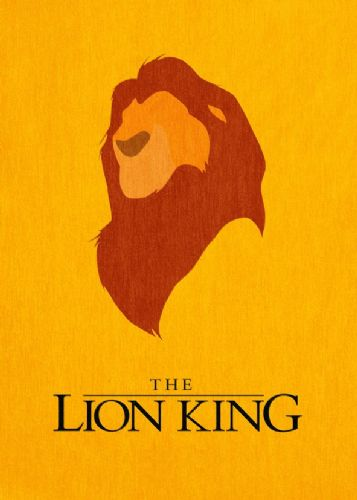 1990's Movie - THE LION KING MINIMAL 2 canvas print - self adhesive poster - photo print
